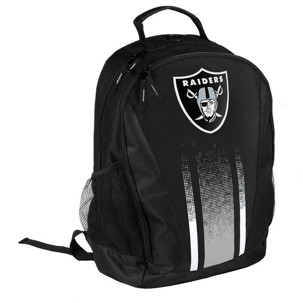 BAG112)NFL Oakland Raiders Striped Prime Time Backpackバックパック☆US購入LANYストリートカジュアルスポーツダンサーバイク【送料無料】