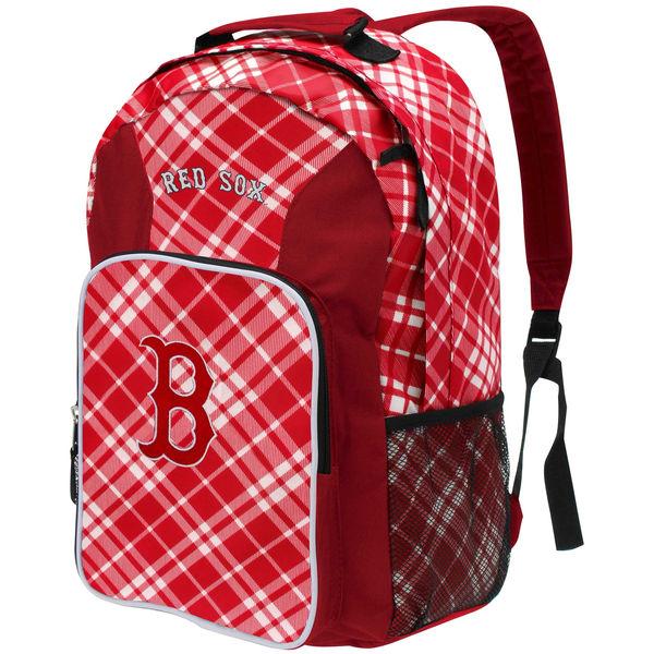 BAG125)MLB Boston Red Sox Plaid Southpaw Backpackバックパック リュック☆US購入LANYストリートカジュアルスポーツダンサーバイク【送料無料】