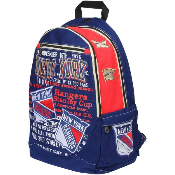 BAG128)NHL New York Rangers Historic Backpackバックパック リュック☆US購入LANYストリートカジュアルスポーツダンサーバイク【送料無料】