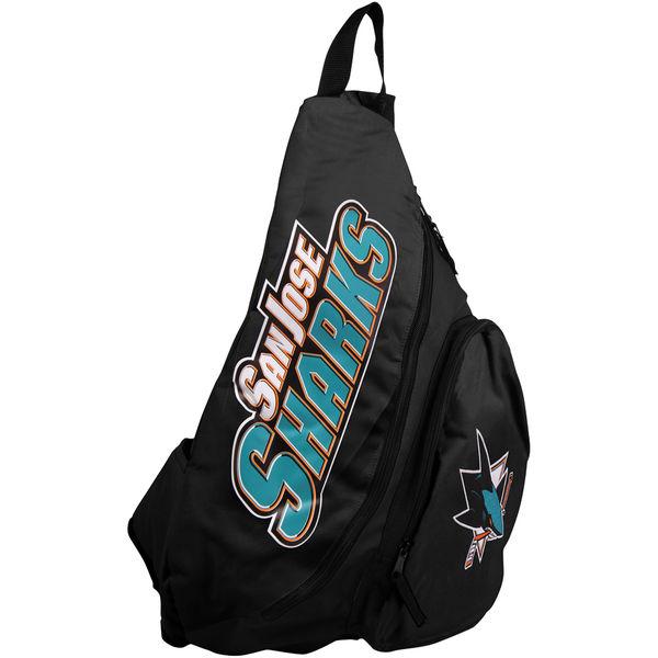 BAG190)NFL San Jose Sharks Slingback バックパック ワンショルダー☆US購入LANYストリートカジュアルスポーツダンサーバイク【送料無料】