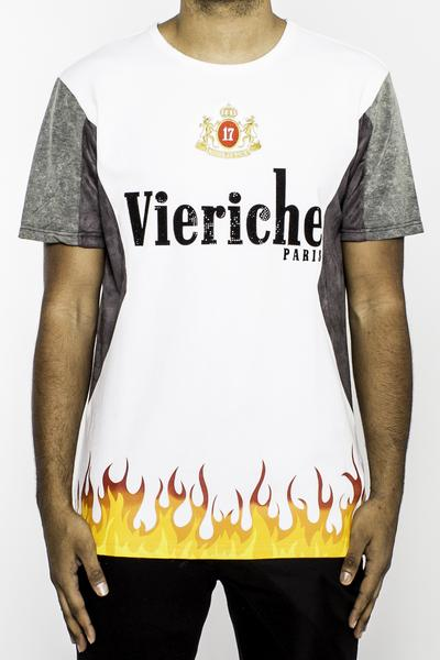 VIE RICHE FLAME Tシャツ(V1070963)白/AU15★USLANYカジュアルストリートHIPHOPB系【送料無料】