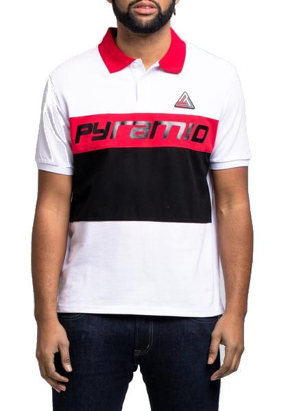 BLACK PYRAMID デザインポロシャツ半袖(Y1161138)/AV54/ブラックピラミッド/クリスブラウン/大きいサイズ/キングサイズ【送料無料】