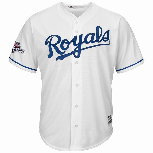 Majestic Kansas City Royals 2015 World Serie/MLB/カンザスシティ・ロイヤルズ/AW12/L/ジュニアサイズ/YOUTH/ベースボールシャツ/キッズ/レディース/大きいサイズ/キングサイズ/USサイズ【送料無料】
