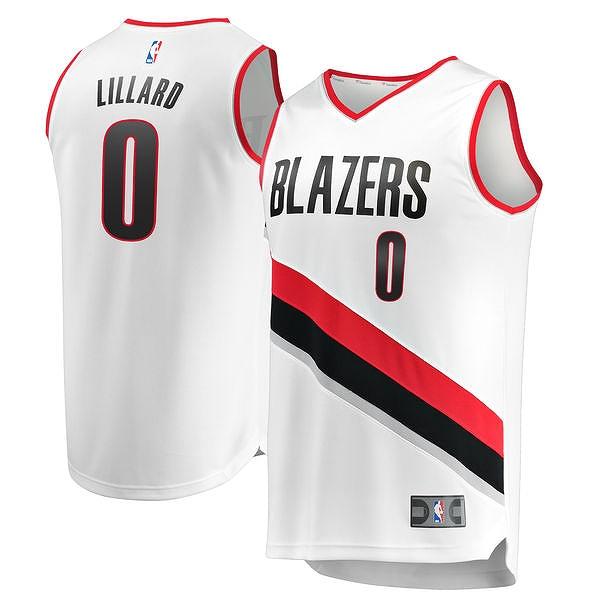 Fanatics Branded Damian Lillard Portland Trail Blazers /NBA/ポートランド・トレイルブレイザーズ/S/ゲームシャツ/AW29/大きいサイズ/キングサイズ/USサイズ【送料無料】
