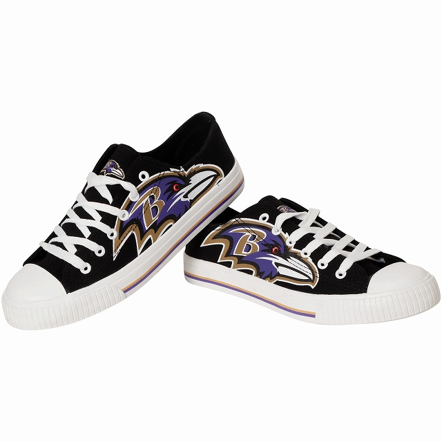Forever Collectibles Baltimore Ravens Big Logo Low Topスニーカー/ボルチモア・レイブンズ/NFL/28cm/SN563【送料無料】