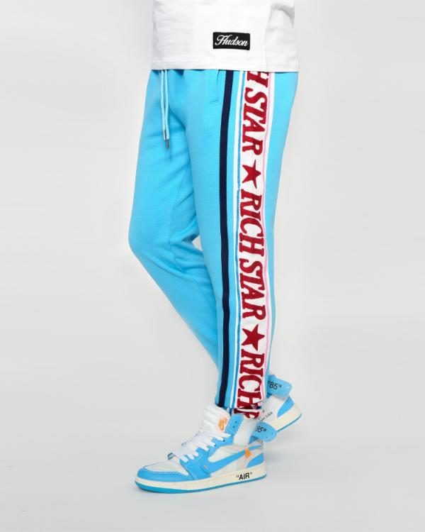 RICH STAR BIG LOGO EMB BLOCKトラックパンツ(Y4230115)/BLUE/リッチスター/チーフキーフ/CHIEFKEEF/セットアップ/AX99★US購入B系HIPHOPカジュアルストリートセレブ【送料無料】