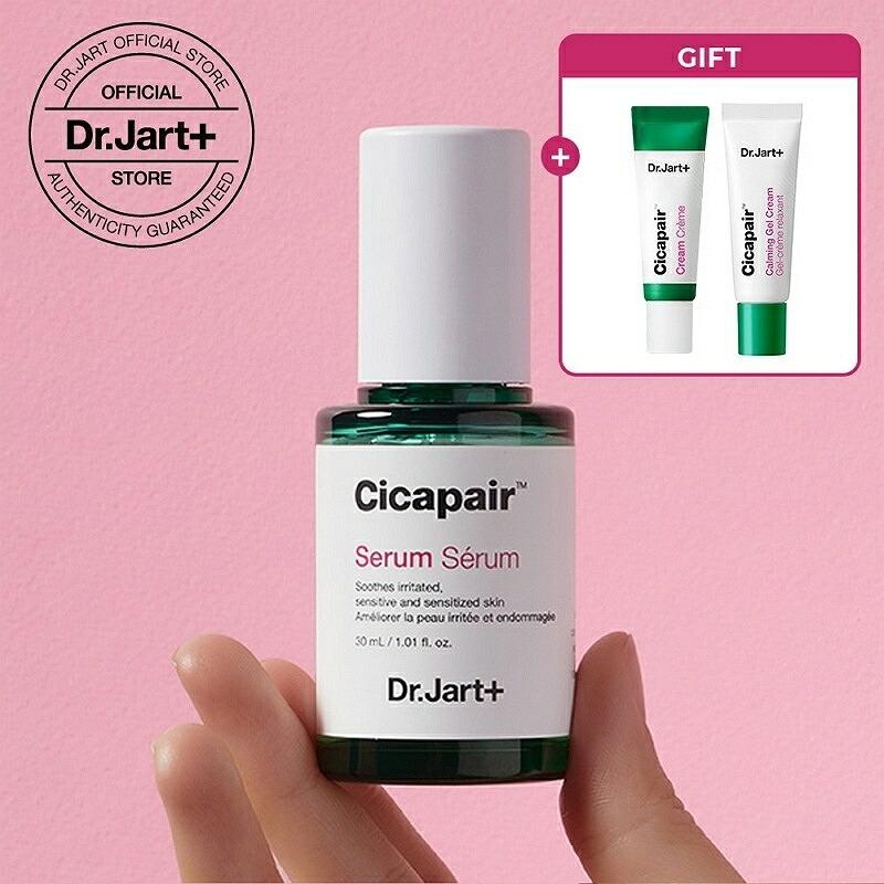Cicapair Serum DoctorとArtからインスピレーションを受けたダーマコスメティックブランド Dr.Jart+ 公式 2世代 シカペア セラム 人気の定番 30ml エッセンス 2020新作 ドクタージャルト CICA おまけあり 美容液 スキンケア 正規品 drjart 韓国コスメ