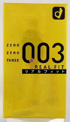 オカモト 003ゼロゼロスリーリアルフィット2000 ハイクオリティ 10個入 コンドーム 売店
