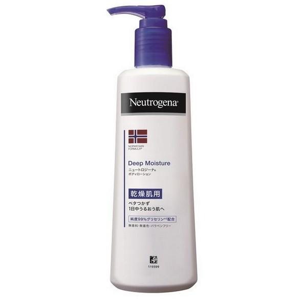 乾燥肌用-日々のケアに 《ジョンソン&ジョンソン》 ニュートロジーナ ノルウェーフォーミュラ ディープモイスチャー ボディミルク 無香料 250ml