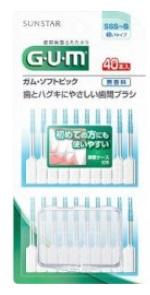【サンスター】GUM(ガム) ソフトピック 無香料 SSS-S 細いタイプ(40本)