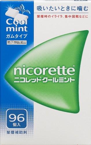 【指定第2類医薬品】 ニコレット クールミント 96個入