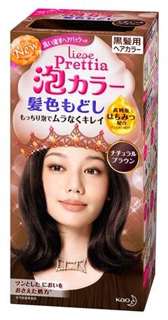 花王理涩 PRETTIA 泡沫颜色头发的颜色返回的布朗 (它需要大约 3-5 天,直到该项目到达)