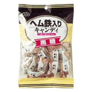 【本日ポイント5倍相当】ヘルシーフード株式会社ヘム鉄入りキャンディ 黒糖 40粒 24袋(発送までに7~10日かかります・ご注文後のキャンセルは出来ません)【ドラッグピュア市場店】