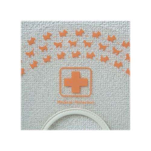 早割クーポン オカモト 定価 クリアカラー Sハード オレンジ ワン ニャンプリントがかわいいマジックテープタイプのカラーー エリザベスカラー