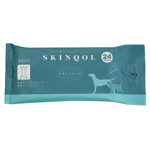獣医科用ウェットシートで皮膚トラブルのケア 高品質 選択 改善 スキンクオール 犬 猫 24枚入