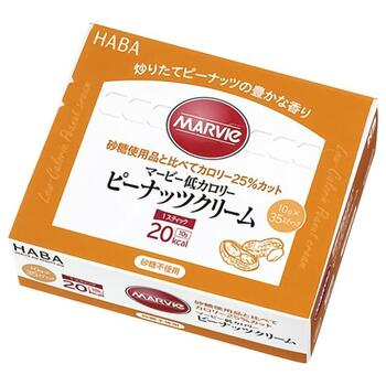 砂糖使用品に比べてカロリー25%カット 正規品 マービー 舗 低カロリーピーナッツクリーム 350g 10g×35本 HABA研究所 px