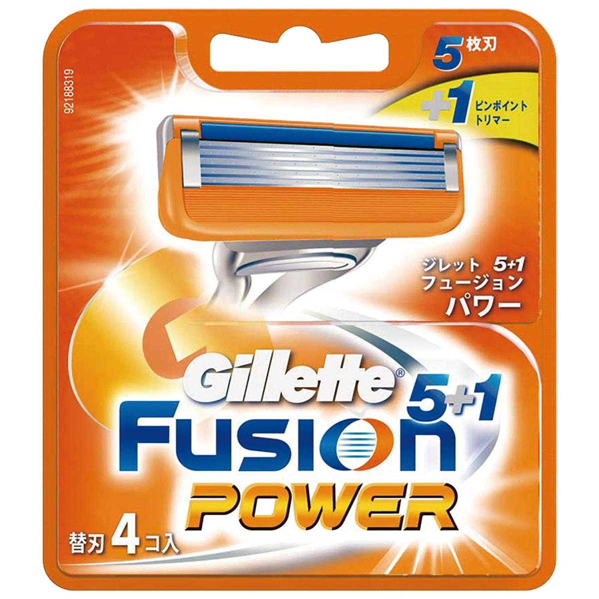 ジレット フュージョン5+1パワー 替刃4B 4コ入 メール便可 4902430698887 お求めやすく価格改定 超定番