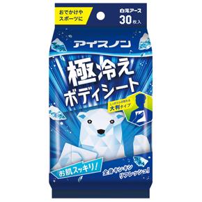 日本正規代理店品 アイスノン 極冷えボディーシート 小型宅配便利用の場合 日時指定はできません 正規取扱店 30枚入 4902407024633