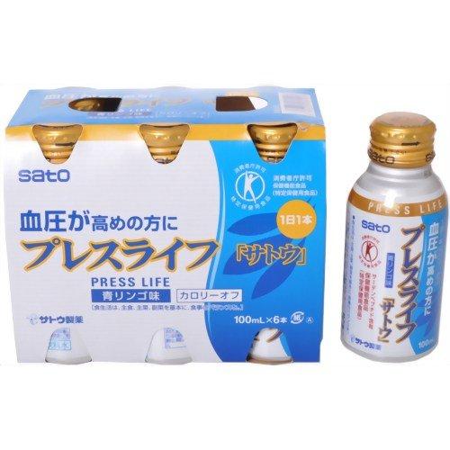 全商品オープニング価格 プレスライフ 100ml×6本 佐藤製薬サプリメント 血圧が高めの方に 人気 おすすめ 4987316081908 特定保健用食品