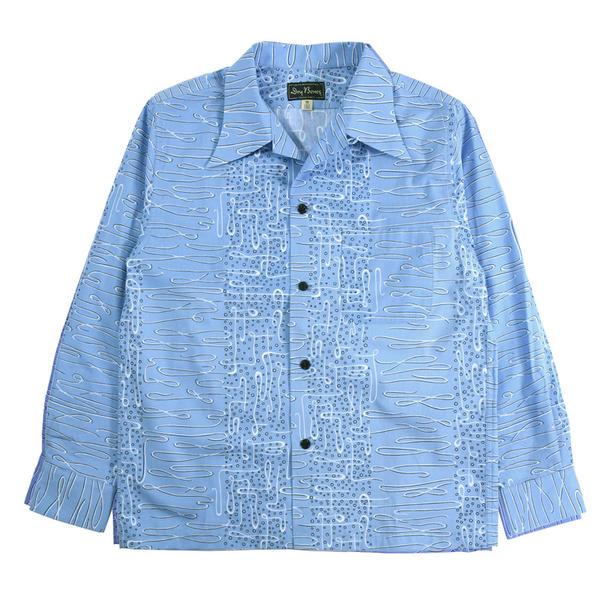 """オープンシャツ""""BUBBLE"""" / DRY BONES【ドライボーンズ】メンズ シャツ 長袖 トップス カジュアル 50'S コットン バブル"""