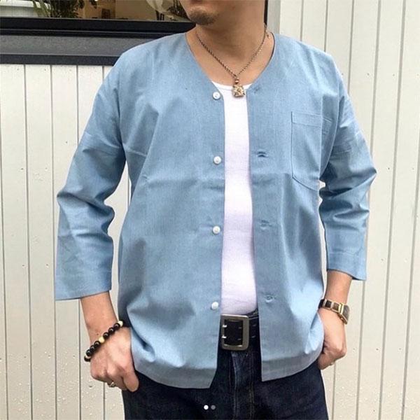 """DS-2564 鯉口シャツ シャンブレー """"CHAMBRAY"""" ドライボーンズ 長袖 正規販売店 メンズ 爆買い送料無料 トップス シャツ"""