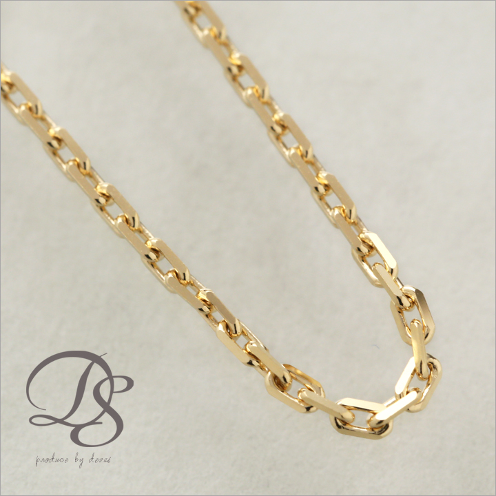 gn diamond curb necklace gold yellow cut chains chain