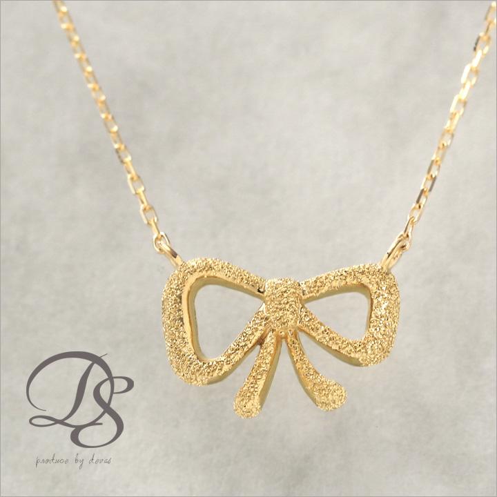 幸せを結ぶリボンネックレスK18 18金 ゴールドネックレスランキング入賞 gold necklace ゴールド ネックレス DEVAS ディーヴァス 18k シンプル プチネックレス 華奢 レディース かわいい 誕生日 プレゼント リボン