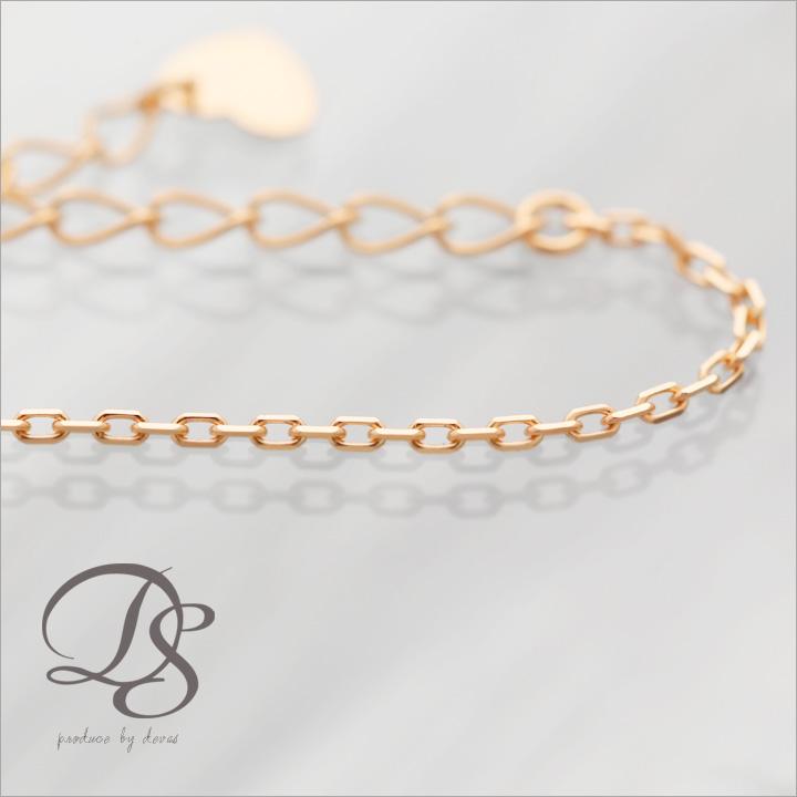 レディース ブレスレットピンクゴールド ブレスレットあずきチェーン幅1mm 華奢 18金 ブレス  プレゼント DEVAS ディーヴァス