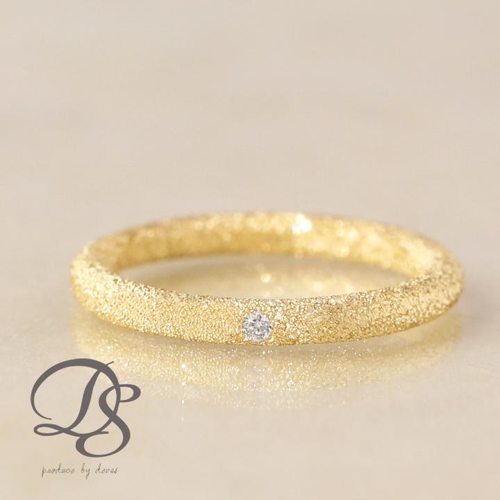 K18 ピンキーリング 1石のダイヤモンドをセットし K18ゴールドがキラキラ輝く ゴールドリング 1号から生産 ゴールド リング 18k 18金 指輪 2020新作 ピンキー アウトレット☆送料無料 レディースリング 一粒ダイヤ レディース ディーヴァス シンプル 上品 DEVAS おしゃれ ギフト 誕生日 送料無料 プレゼント