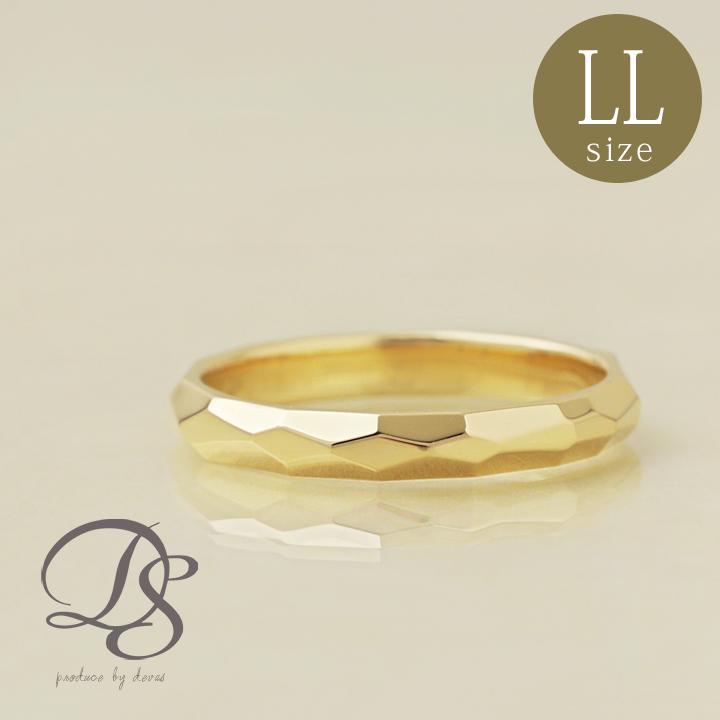 18金 リング メンズ 18k 指輪 レディース おしゃれ ゴールド シンプル リング k18カットデザイン(LL) 誕生日 ギフト プレゼント 贈り物 ペアリング 結婚指輪DEVAS ディーヴァス 【送料無料】