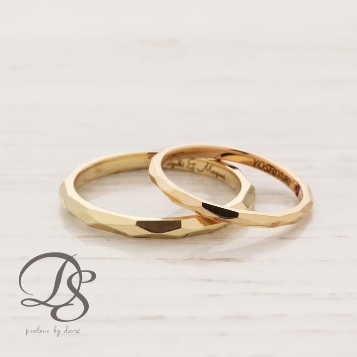 ペアリング 2本セット K18 ゴールド ring 18金 リング レディース メンズ 結婚指輪 マリッジリング【DEVAS ディーヴァス】 誕生日  プレゼント ギフト 妻 彼女 かわいい ゴールドリング ペア 男性 ジュエリー 18k ペアアクセサリー アクセサリー ペアリング