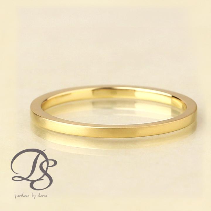18金 リング レディース ピンキーリング 18k 指輪 レディース ゴールド リング K18角状 つや消し 重ねづけ 誕生日 ギフト プレゼント 贈り物 アクセサリー1号 2号 3号 4号 5号 ring gold DEVAS ディーヴァス 【送料無料】