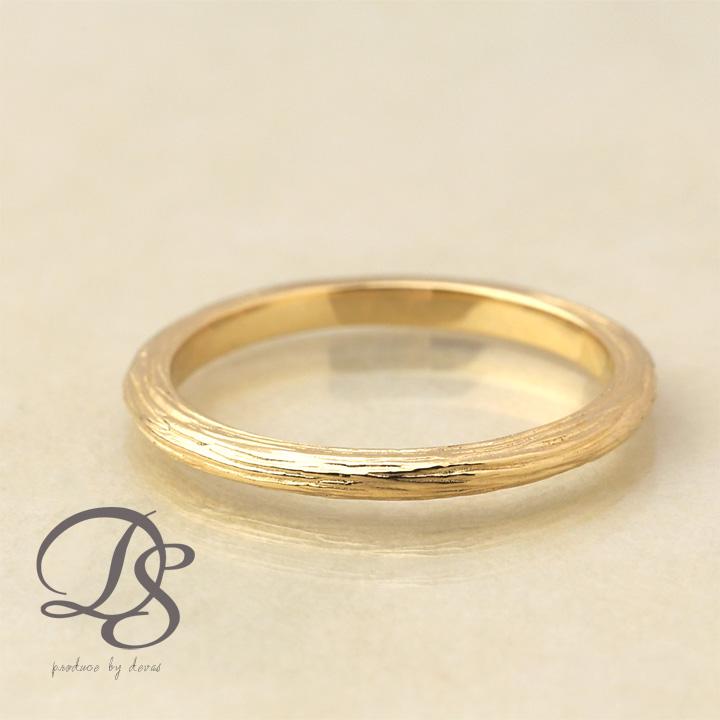 18金 リング レディース ピンキーリング 18k 指輪 メンズ ゴールド リング K18ラインデザイン(M) 木目 シンプル誕生日 ギフト プレゼント 贈り物 妻 彼女 ペアリング 結婚指輪DEVAS ディーヴァス 【送料無料】