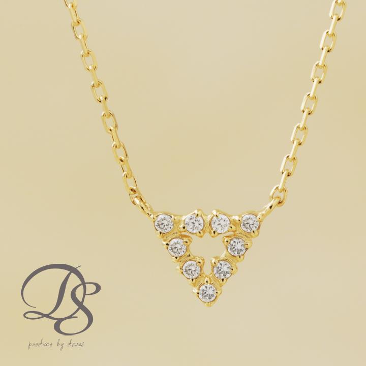 ネックレス ゴールド k18 18金 ネックレス レディース トライアングル 三角形 9石 ダイヤモンド gold necklaceプチネックレス 誕生日 プレゼント ギフト ジュエリー 彼女 妻 かわいいDEVAS ディーヴァス 【送料無料】