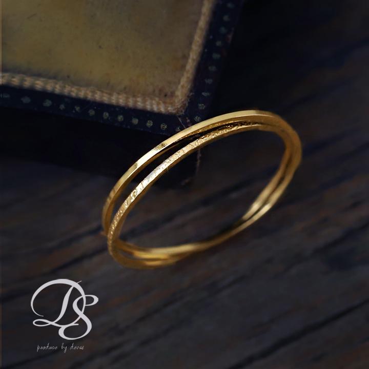 あす楽15時まで対応 タイムセール K18 ゴールド リング 2連 ピンキーリング 角状x角状デザイン シンプルで華奢がオシャレ 18k 18金 DEVAS ディーヴァス レディース 国産品 指輪 ゴールドリング ピンキー ジュエリー プレゼント 彼女 妻