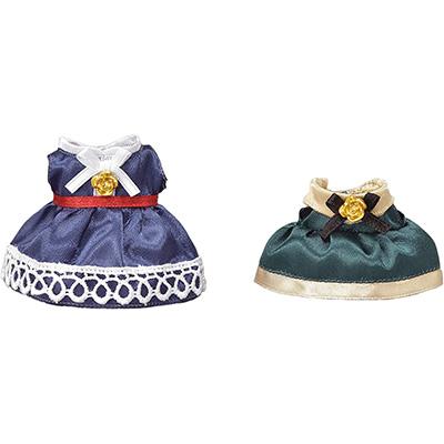 女の子 おもちゃ ままごと ウサギ 蔵 人形 ギフト 誕生日 TD-03 ブルー 街のドレスアップセット グリーン シルバニアファミリー 訳あり商品 エポック社 3才から