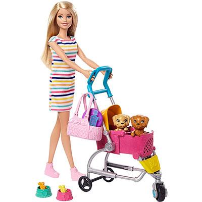 おもちゃ 女の子 Barbie 着せ替え人形 ごっこ遊び ドール アクセサリー こいぬ 新作 マテル プレゼント 3才から バービー ペットカートのおせわセット GHV92 ギフト 超定番