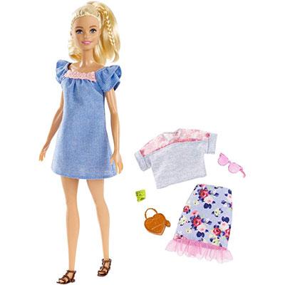 価格 おもちゃ 女の子 着せ替え人形 洋服 靴 バック サングラスギフト バービー FRY79 ついに入荷 ファッショニスタ マテル ドールセット ファッション 3才から