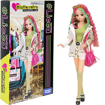 女の子 おもちゃ 人形 映え ニュートロ ファッション プレゼント ギフト レトロ タカラトミー リカちゃん #ラテ 百貨店 ドール 3才から 2020 新作 #Licca