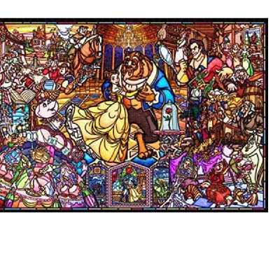 ディズニー インテリア お部屋 プレゼント 正規品 1000ピース ジグソーパズル 美女と野獣 テンヨー ピュアホワイト ステンドグラス 51x73.5cm 春の新作シューズ満載 ストーリー DP-1000-035
