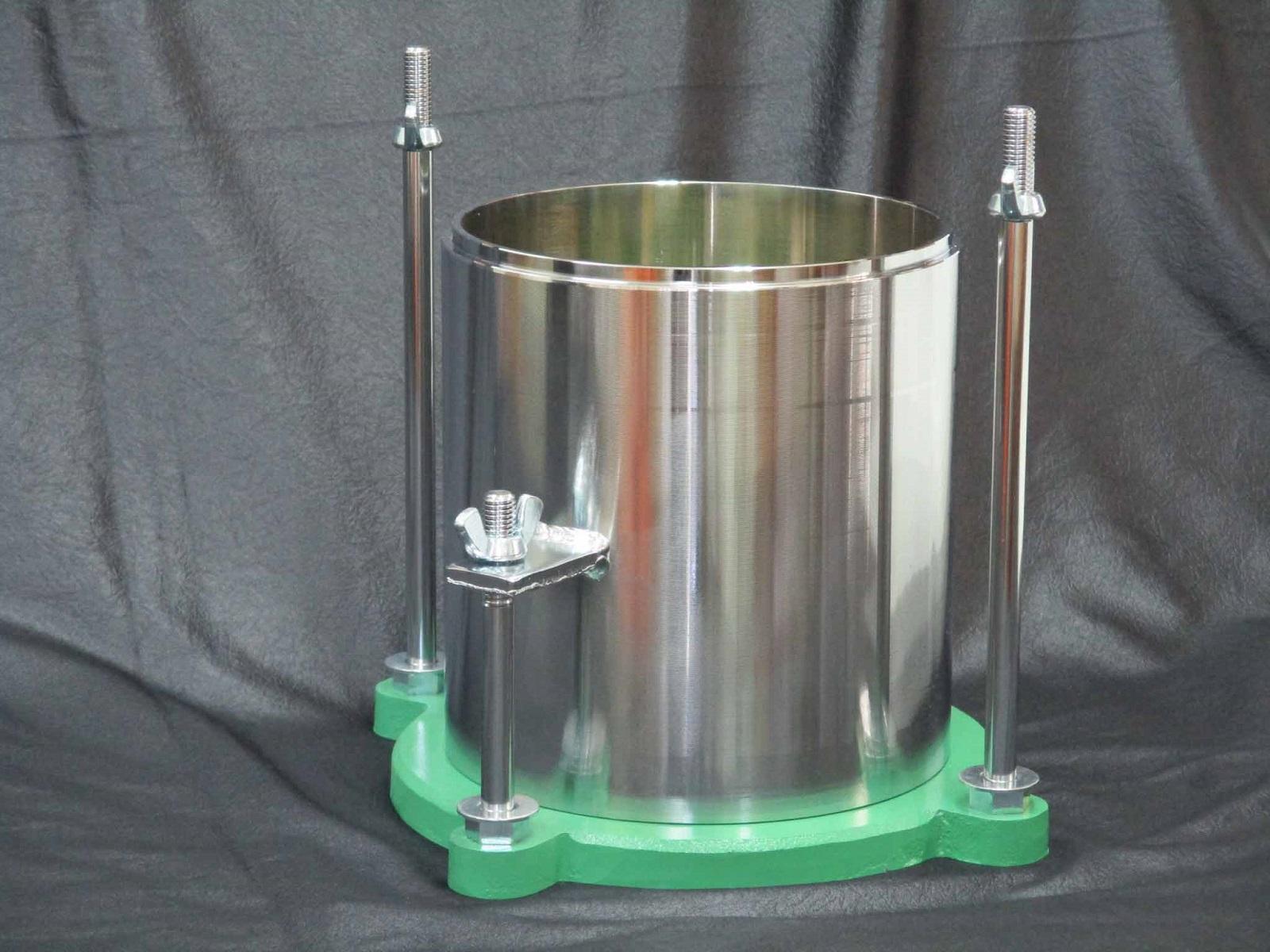 土質試験機CBR試験用部品CBRモールドシリンダー(Φ150mm)、星形底板×3セット