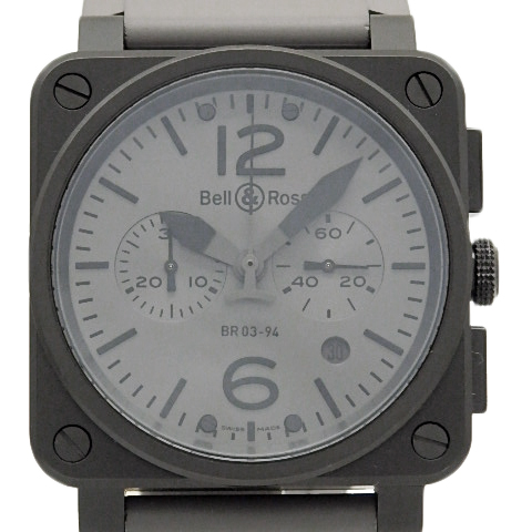 【DS KATOU】 Bell&Ross ベル&ロス コマンド BR03-94 PVD メンズ オートマ グレー文字盤 【質屋出店】 【中古】