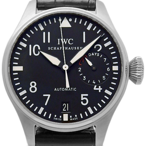 【DS KATOU】 IWC ビッグパイロット 7デイズ  パワーリザーブ IW500901 メンズ オートマ 黒文字盤 【質屋出店】 【中古】