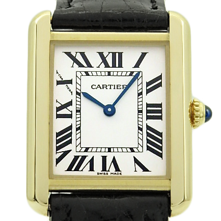 【DS KATOU】 K18YG/SS Cartier カルティエ タンクソロ W5200002 SM レディース クォーツ シルバー文字盤  【質屋出店】 【中古】