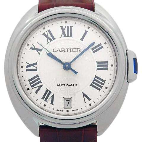【DS KATOU】 Cartier カルティエ クレドゥカルティエ WSCL0017 レディース オートマ 裏スケ シルバー文字盤  【質屋出店】 【中古】