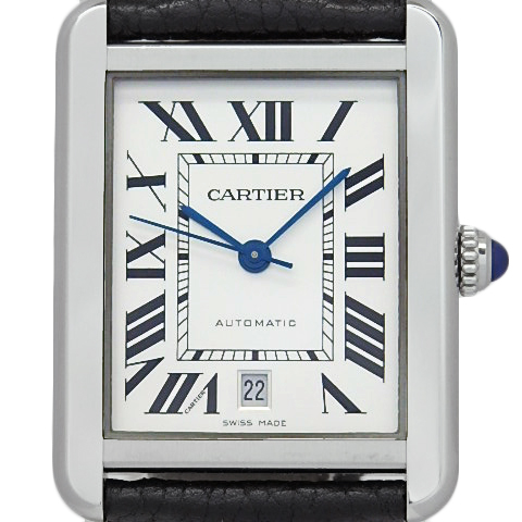 【DS KATOU】 Cartier カルティエ タンクソロ XL W5200027 メンズ オートマ シルバー文字盤  【質屋出店】 【中古】