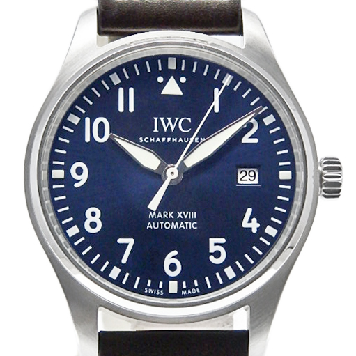 【DS KATOU】 IWC パイロットウォッチ MARK XVIII マーク18 IW327004 プティプランス メンズ オートマ 青文字盤 【中古】
