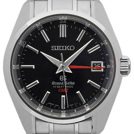 【DS KATOU】 SEIKO セイコー GS グランドセイコー GMT SBGJ003 ハイビート 36000 オートマ 裏スケ メンズ 黒文字盤 【中古】