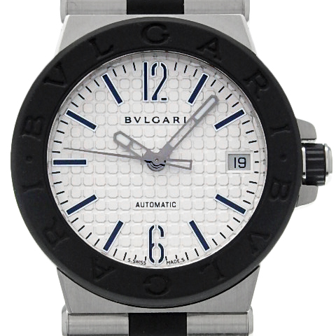 【DS KATOU】 BVLGARI ブルガリ ディアゴノ DG35SV メンズ ボーイズ オートマ 白文字盤 【質屋出店】 【中古】