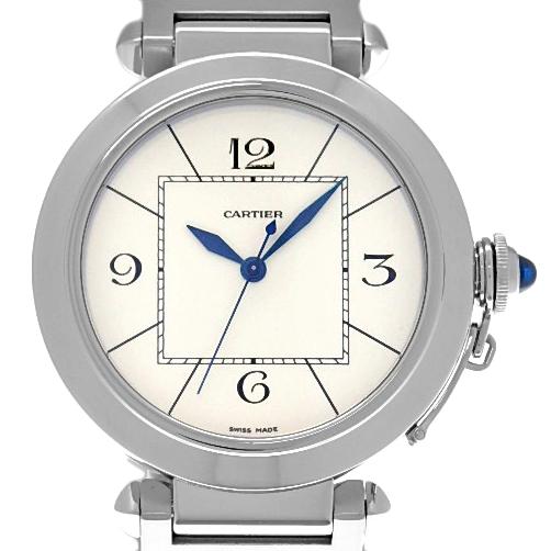 【DS KATOU】 Cartier カルティエ パシャ42 W31072M メンズ オートマ 裏スケ アイボリー文字盤 【質屋出店】 【中古】